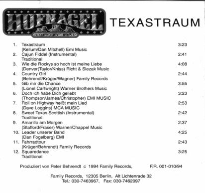 CD Hufnagel - Texastraum